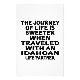 Traveled With A Idahoan Life Partner Stationery