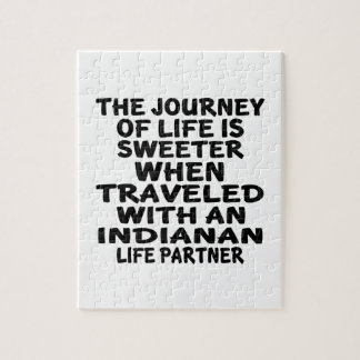 Traveled With A Indianan Life Partner Jigsaw Puzzle