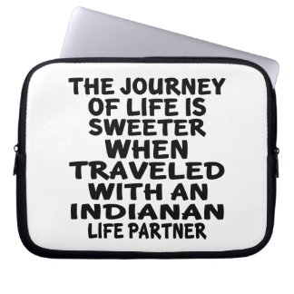 Traveled With A Indianan Life Partner Laptop Sleeve