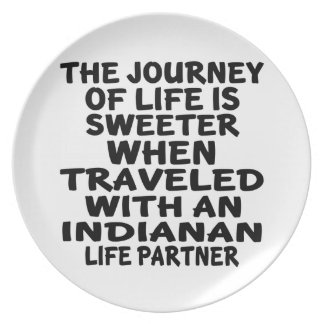 Traveled With A Indianan Life Partner Plate