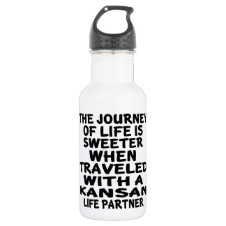 Traveled With A Kansan Life Partner 532 Ml Water Bottle