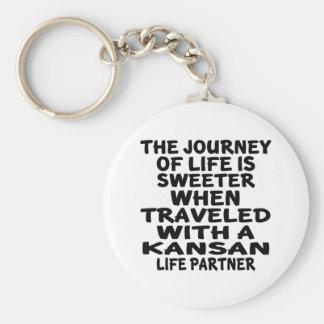 Traveled With A Kansan Life Partner Key Ring
