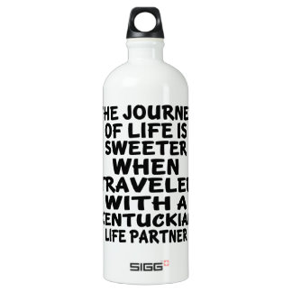 Traveled With A Kentuckian Life Partner Water Bottle
