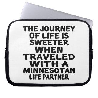 Traveled With A Minnesotan Life Partner Laptop Sleeve