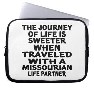 Traveled With A Missourian Life Partner Laptop Sleeve