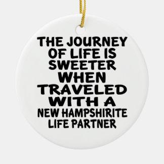 Traveled With A New Hampshirite Life Partner Ceramic Ornament