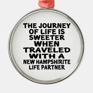 Traveled With A New Hampshirite Life Partner Metal Ornament