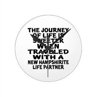 Traveled With A New Hampshirite Life Partner Wallclocks