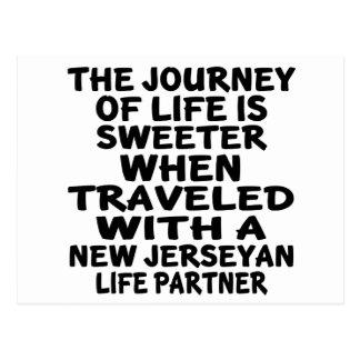 Traveled With A New Jerseyan Life Partner Postcard
