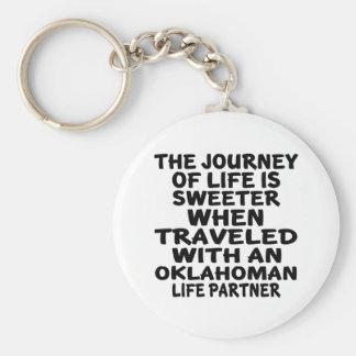 Traveled With A Oklahoman Life Partner Key Ring