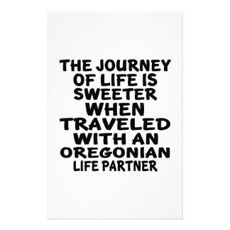 Traveled With A Oregonian Life Partner Stationery