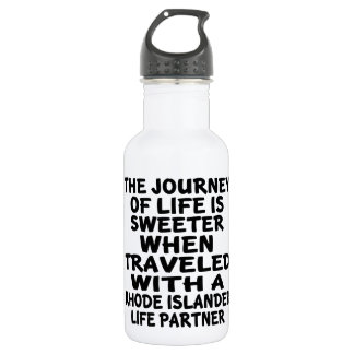 Traveled With A Rhode Islander Life Partner 532 Ml Water Bottle