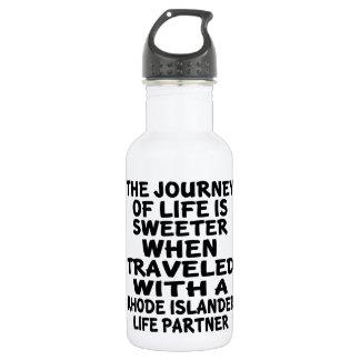Traveled With A Rhode Islander Life Partner 532 Ml Water Bottle