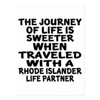 Traveled With A Rhode Islander Life Partner Postcard