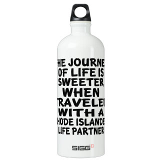 Traveled With A Rhode Islander Life Partner Water Bottle