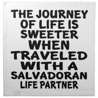 Traveled With A Salvadoran Life Partner Napkin