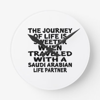 Traveled With A Saudi Arabian Life Partner Wall Clocks