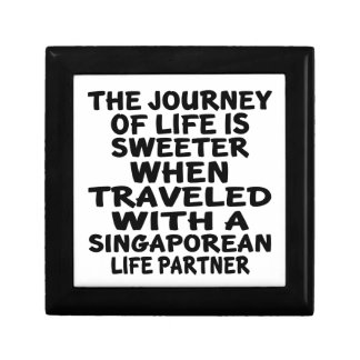 Traveled With A Singaporean Life Partner Small Square Gift Box