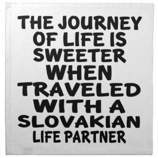 Traveled With A Slovakian Life Partner Napkin