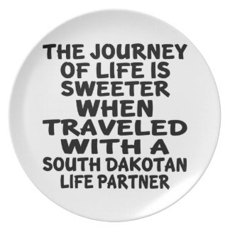 Traveled With A South Dakotan Life Partner Plate