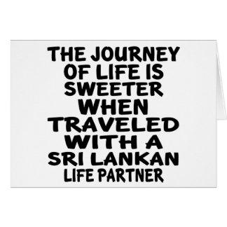 Traveled With A Sri Lankan Life Partner Card