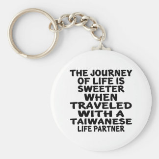 Traveled With A Taiwanese Life Partner Basic Round Button Key Ring