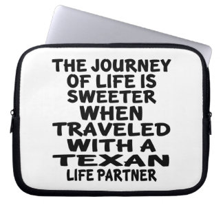 Traveled With A Texan Life Partner Laptop Sleeve