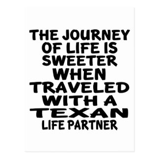 Traveled With A Texan Life Partner Postcard