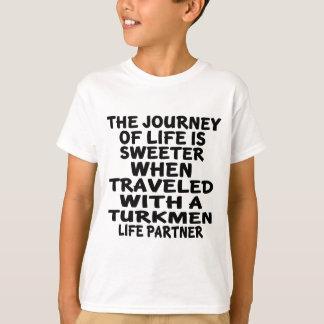 Traveled With A Turkmen Life Partner T-Shirt