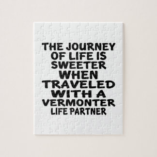 Traveled With A Vermonter Life Partner Jigsaw Puzzle