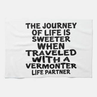 Traveled With A Vermonter Life Partner Towels