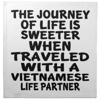 Traveled With A Vietnamese Life Partner Napkin