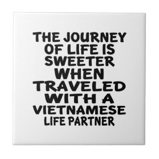 Traveled With A Vietnamese Life Partner Small Square Tile