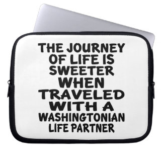 Traveled With A Washingtonian Life Partner Laptop Sleeve