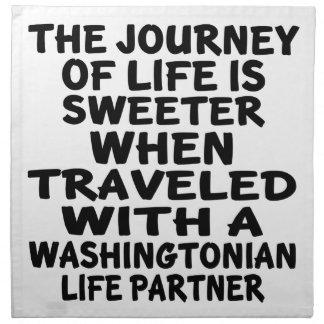 Traveled With A Washingtonian Life Partner Napkin