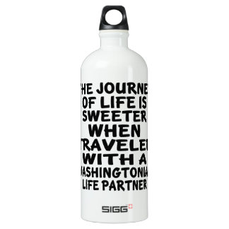 Traveled With A Washingtonian Life Partner SIGG Traveller 1.0L Water Bottle