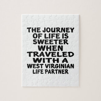 Traveled With A West Virginian Life Partner Jigsaw Puzzle