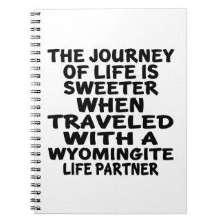 Traveled With A Wyomingite Life Partner Notebooks