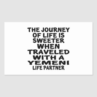 Traveled With A Yemeni Life Partner Rectangular Sticker