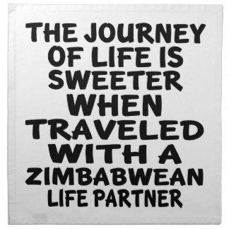 Traveled With A Zimbabwean Life Partner Napkin
