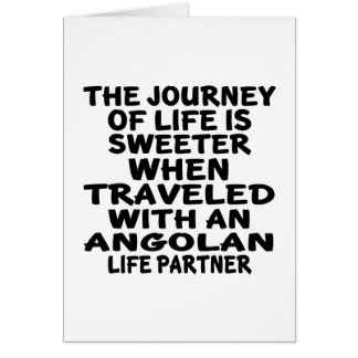 Traveled With An Angolan Life Partner Card