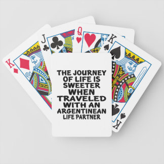 Traveled With An Argentinean Life Partner Bicycle Playing Cards