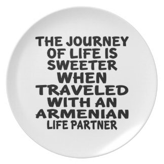 Traveled With An Armenian Life Partner Party Plates