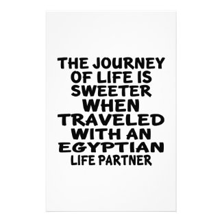Traveled With An Egyptian Life Partner Customized Stationery