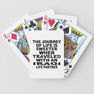 Traveled With An Iraqi Life Partner Bicycle Playing Cards