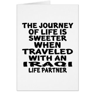 Traveled With An Iraqi Life Partner Card