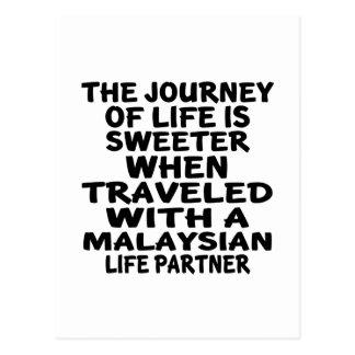 Traveled With An Malaysian Life Partner Postcard