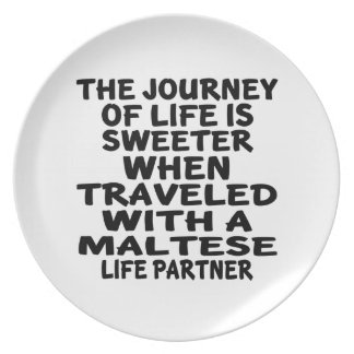 Traveled With An Maltese Life Partner Plate