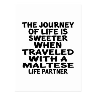 Traveled With An Maltese Life Partner Postcard