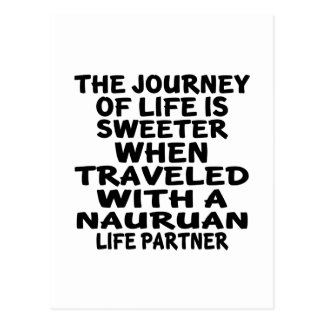 Traveled With An Nauruan Life Partner Postcard